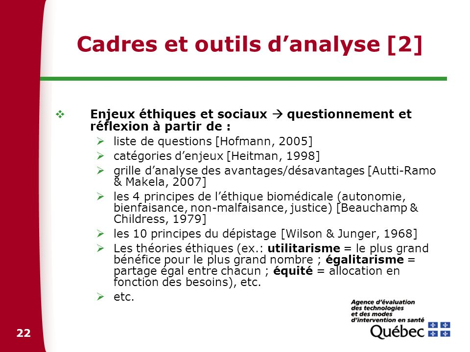 Cadres et outils d'analyse [2]